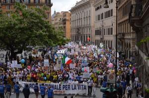 Marcia per la Vita à Rome