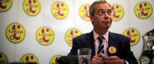 UKIP Leader Nigel Farage Campaigning In South Shields